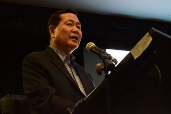 25F-RGL2 - Senior Associate Justice Antonio Carpio having his speaking engagement at the Ateneo de Davao University (Addu) on Friday, August 23. Photo by Ralph Lawrence G. Llemit