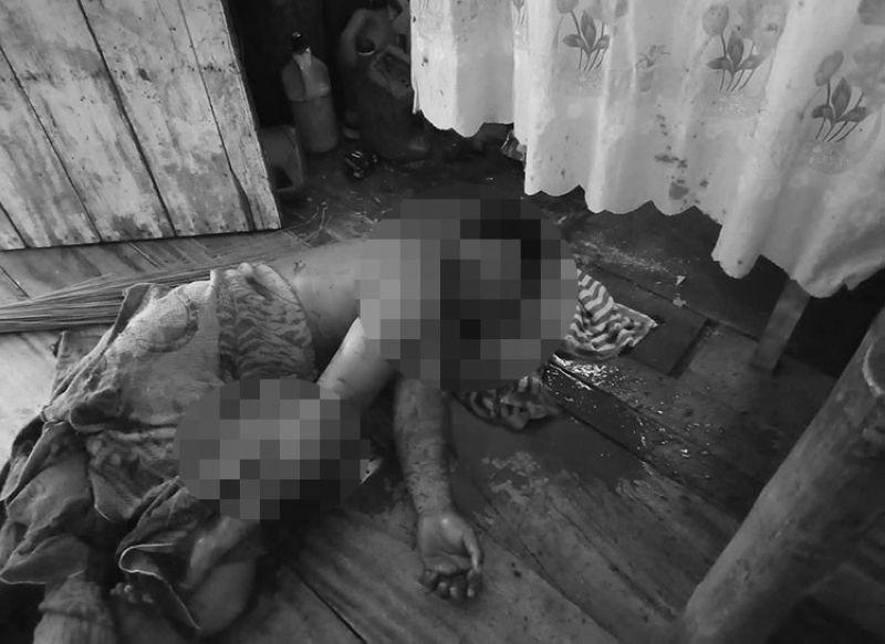 BILIRAN. The body of Eduardo Rosquitos, 30, who was killed by his drinking partner, Roger Paje. (Photo courtesy of Police Lieutenant Isidoro Ancero/PNP-Culaba)