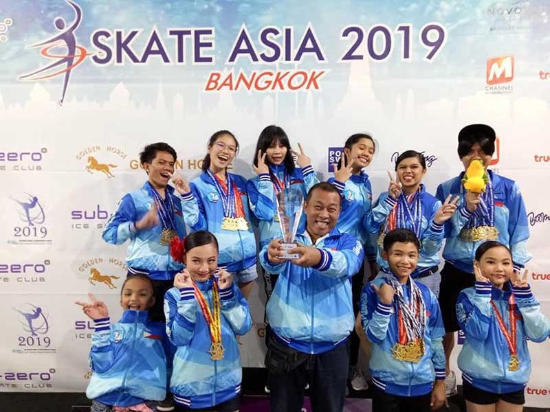 CEBU'S PRIDE. The figure ice skaters of Cebu are now preparing for the Battle of Championship Series in January next year following a third overall finish in Skate Asia 2019. (Contributed Photo)