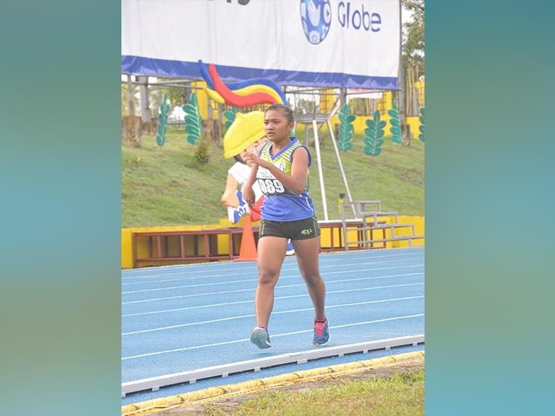 PALAWAN. Palarong Pambansa 2019 bronze medalist Lyka Catubig walks her way to a gold medal finish in girls 15-under 2,000-meter walk event of the ongoing Palarong Pambansa 2019 National Championships athletics competition at the Ramon V. Mitra Sports Complex Tuesday, August 27, 2019. (Mamerto Aventurado)