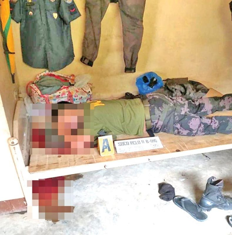 Patrolman (Police Officer 1) Pat Nonie Lad Badbadon was discovered lifeless 6:30 a.m. Tuesday, August 27, 2019, inside his quarter. (PRO-Davao photo)