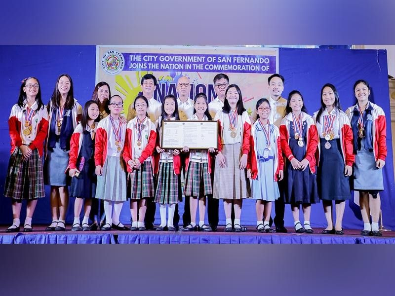 PAMPANGA. Several Fernandino champions of different international talent competitions, including students from the Rhythm and Dance Center, were recognized on August 27, 2019 at Mini Convention Center, Heroes Hall. Leading the rites were Vice Mayor Jimmy Lazatin, city councilors, and City Council secretary Avelina Lagman. (Contributed photo)