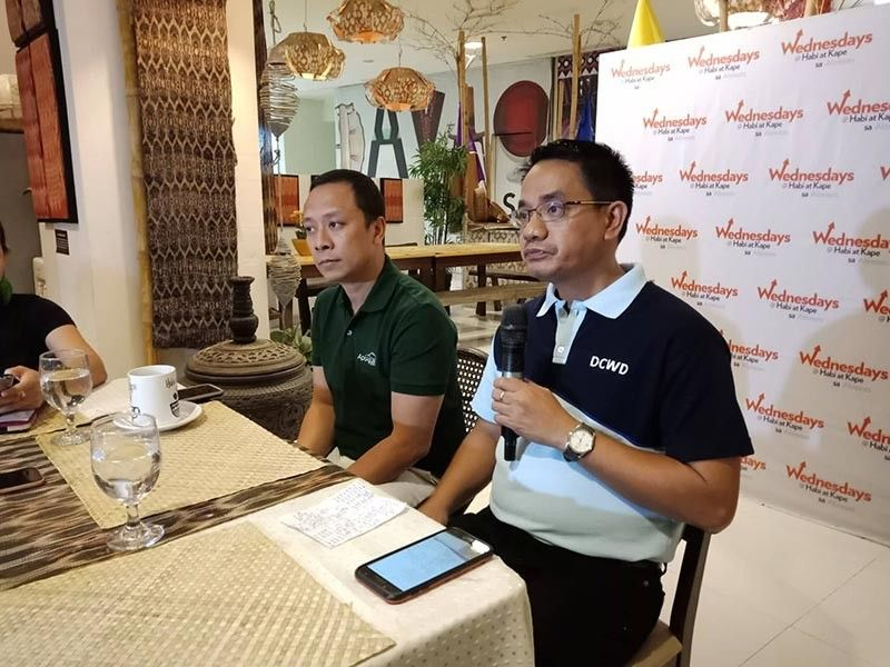 DAVAO. The Davao City Water District Human Resource Department manager and spokesperson Bernardo D. Delima Jr. (right) reiterated the need to increase water rates next year in order to cover the deficit in their revenue collection and further improve its connection services in the 112 barangays in the city. (Lyka Amethyst H. Casamayor)