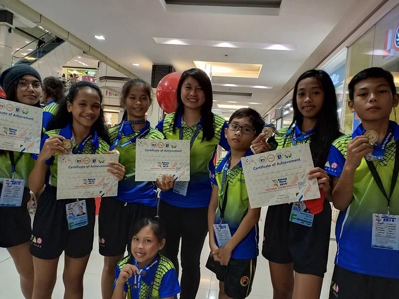 PALAWAN. The seven-member Davao City muay thai team delivers a total of three gold medals, two silvers and two bronzes at the close of the Batang Pinoy 2019 National Championships muay thai competition at NCCC Mall in Puerto Princesa City, Palawan late Tuesday afternoon. (Cathy Astudillo)