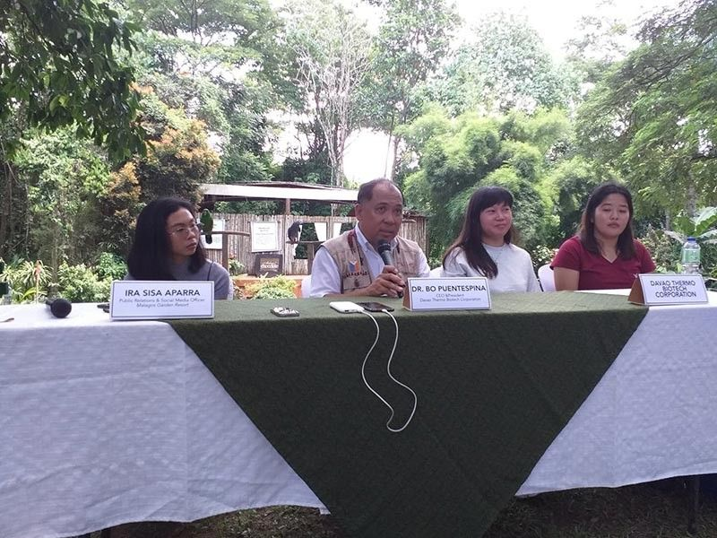 "DAVAO. Dr. Roberto ""Dr. Bo"" Puentespina Jr., chief executive officer and president of Davao Thermo Biotech Corporation (DTBC), during the press conference after his last bird show at Malagos Garden Resort."