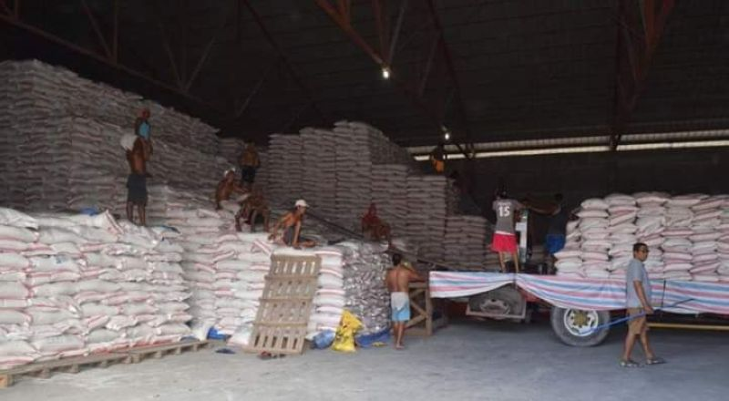 BACOLOD. Some of the buffer stocks stored in one of the warehouses of NFA-Negros Occidental in Bacolod City. (File Photo)