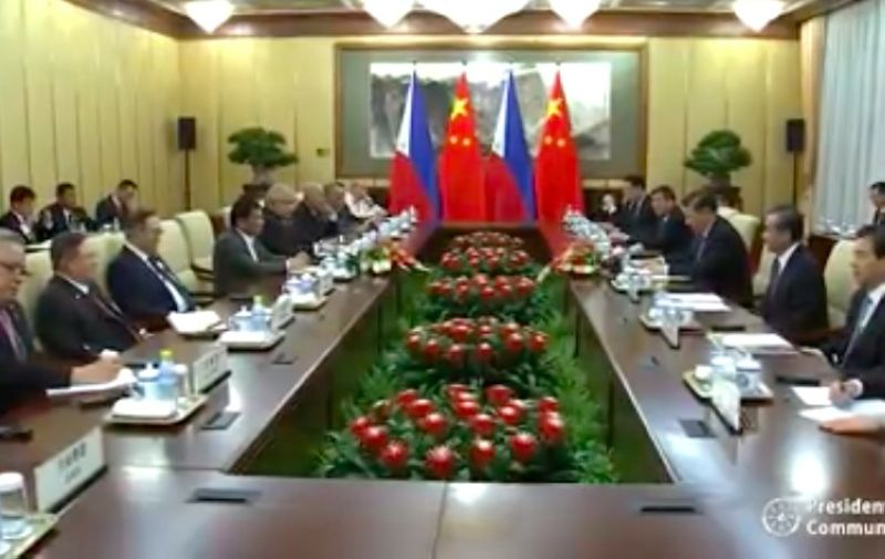 BEIJING. The Philippines and China signed six cooperation deals during President Rodrigo Duterte's fifth visit to Beijing Thursday, August 29, 2019. (Photo grabbed from presidential video)
