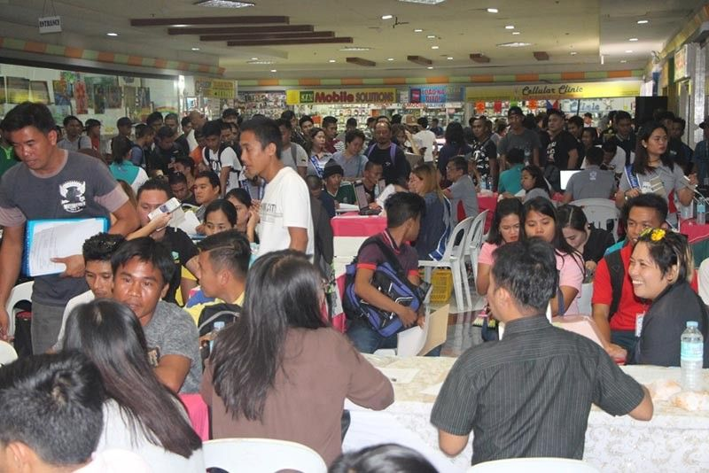 "BACOLOD. Participating TVET graduates in Negros Occidental during the ""World Café Opportunities"" activity of the Technical Education and Skills Authority held at Gaisano City Grand Mall in Bacolod City recently. (Contributed Photo)"
