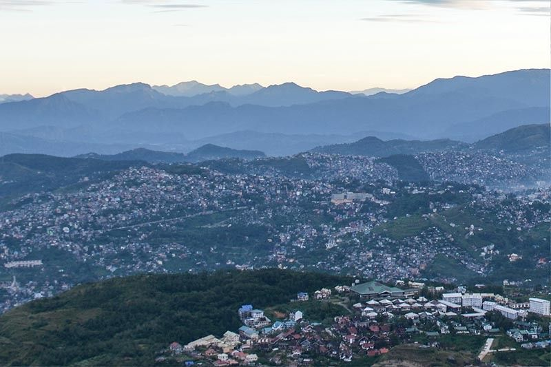BENGUET. A view of the overpopulated Baguio City seen from Mount Cabuyao, Tuba, Benguet. (Photo by Jean Nicole Cortes)