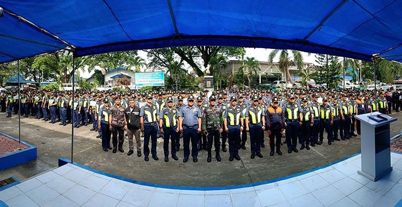 NEW CLARK CITY. The Philippine National Police deployed over 400 personnel for the Pre-Southeast Asian Games events at New Clark City this weekend. (Contributed photo)