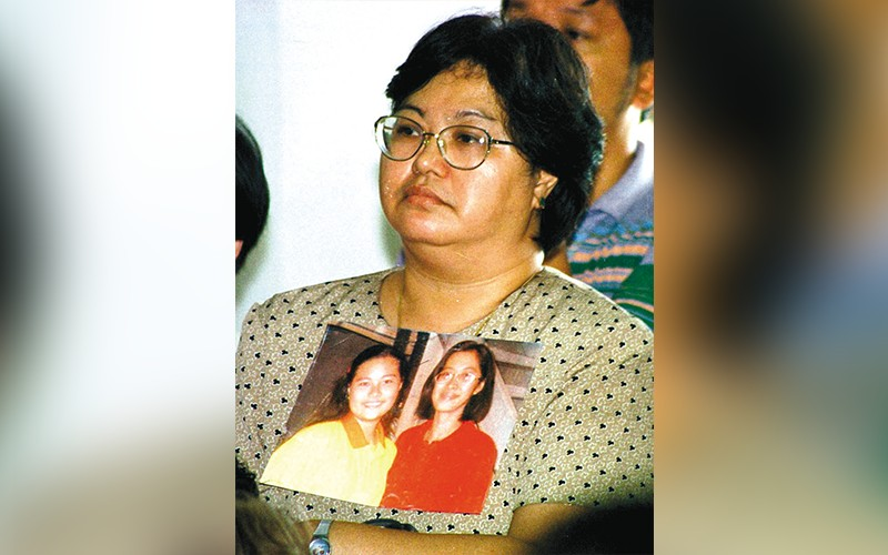chiong case. It has been more than 20 years  since Thelma Chiong fought hard to find justice for her daughters' murders. Then she learns that three of the seven men convicted following their deaths have been released. (SunStar File)