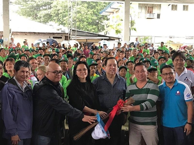 OLONGAPO CITY. Senator Richard Gordon, SBMA Chairman and Administrator Wilma T. Eisma, SBMA Director Ted del Rosario, along with officials from the Department Of Labor and Employment (Dole) and the Department of Education (DepEd) were present during the ceremonial turnover of the Tulong Panghanapbuhay sa Ating Disadvantages/ Displaced (TUPAD) Workers Program to almost 1,100 beneficiaries in Barangay Asinan, Olongapo City on August 29, 2019.