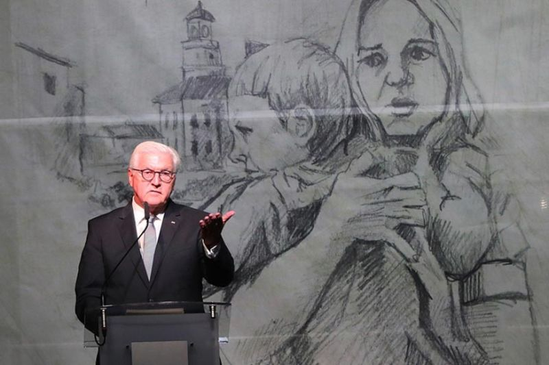 GERMANY. German President Frank-Walter Steinmeier speaks at the commemoration ceremony of the 80th anniversary of the start of World War II, in Wielun, Poland, Sunday, September 1, 2019. (AP)