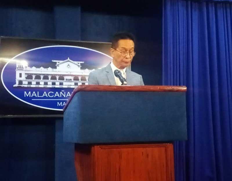 MANILA, Presidential Spokesperson Salvador Panelo holds a press conference on Tuesday, September 3, 2019. (Ruth Abbey Gita/SunStar Philippines)