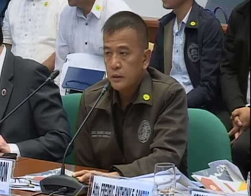 MANILA. Bureau of Corrections (BuCor) Director General Nicanor Faeldon appears before the Senate on Tuesday, September 3, 2019. (Photo grabbed from Senate video)