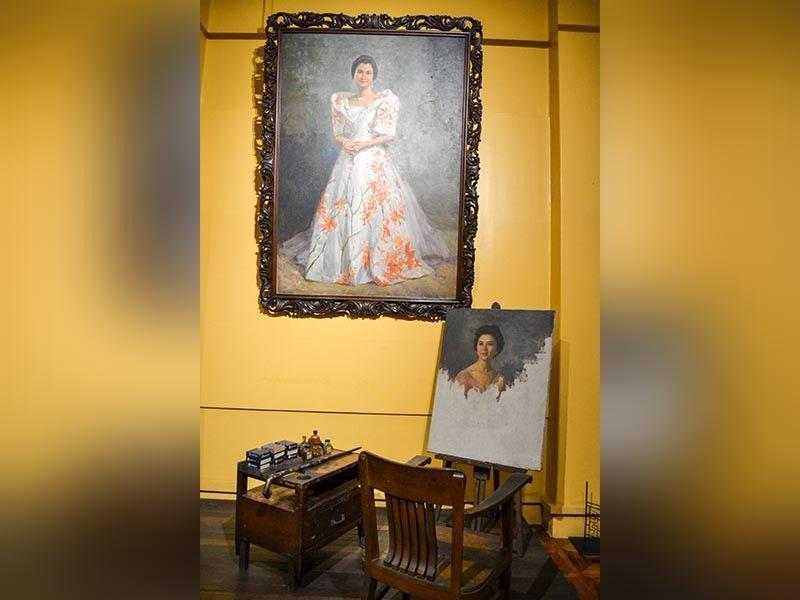 "MANILA. Unfinished portrait of Florencia ""Nena"" Singson Gonzales-Belo by National Artist Fernando Amorsolo. (Photo by Reuel John F. Lumawag)"