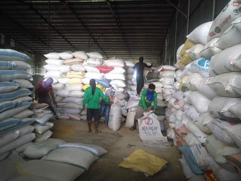NEGROS. Rebagging of palay in one of the buying stations of the National Food Authority in Negros Occidental. (Contributed Photo)