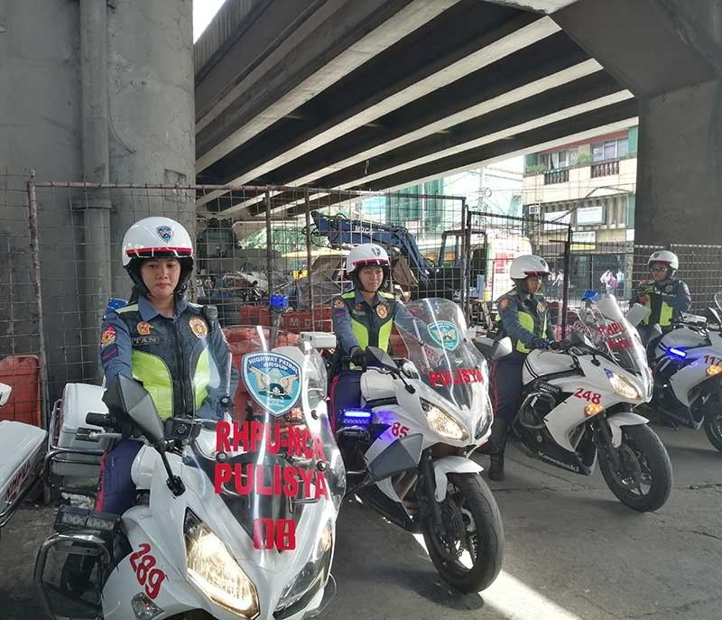 MANILA. Some of the female Highway Patrol Group personnel who will be helping manage traffic along Edsa in Metro Manila. (Third Anne Peralta-Malonzo/SunStar Philippines)