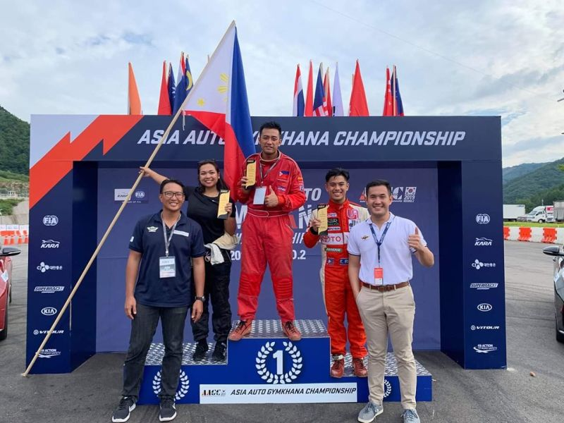 Mark Bernales from Cagayan de Oro City, the first to represent Mindanao in a race car competition, bagged the first place in the Solo Competition of the recently concluded Asia Auto Gymkhana Championship in Korea. (Contributed photos)