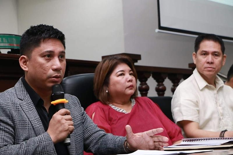 "PAMPANGA. From left, Angeles City Councilor Joseph ""PG"" Ponce, chairman of the Committee on Human Rights together with Sangguniang Panlunsod presiding officer Vice Mayor Vicky Vega-Cabigting and Deputy Majority Floor Leader Councilor Jay Sangil held a press conference on Tuesday, September 3, 2019, as they revealed that an employee of the City Social Welfare Department is being charged with sexual abuse. (Photo by Chris Navarro)"