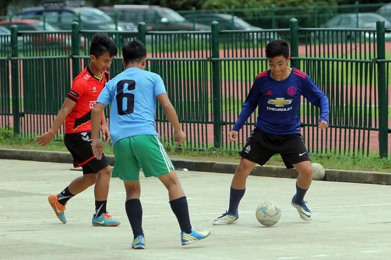 BAGUIO. After bagging bronze in the recently concluded Batang Pinoy National Finals, members of the Baguio City National High School futsal squad resume their training for upcoming local tournaments such as the city and regional sports meet. (Photo by Roderick Osis)