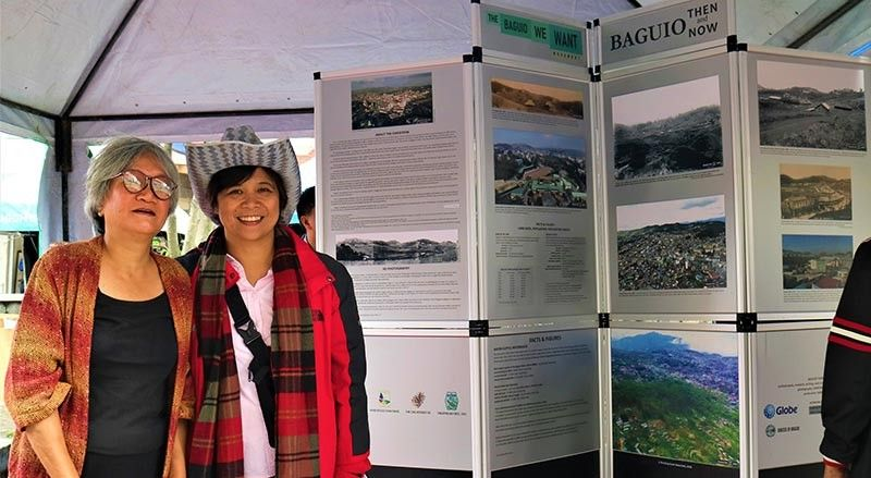 """The Baguio We Want"" photo exhibit at Session Rd. (Photo by Osharé)"