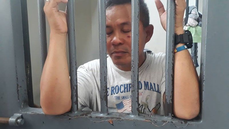 FREEDOM GONE. An emotional Jesus Negro Jr., a murder convict, faces reporters from the detention cell of Abellana Police Station in Cebu City on Friday, Sept. 6, 2019. Released from the national penitentiary in August 2018 as one of the good conduct time allowance (GCTA) beneficiaries, he surrendered to the police after he heard President Rodrigo Duterte's order to rearrest more than 1,000 convicts freed on GCTA. (SunStar Photo/Arnold Bustamante)