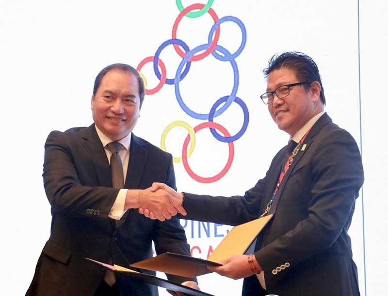 SM Lifestyle, Inc., the lifestyle and entertainment arm of SM Prime Holdings, is now an official venue partner of the upcoming 30th SEA Games this November 30 to December 11. SM Lifestyle COO Herman Medina-Cue shakes hands during the signing ceremony with Ramon Suzara, COO of PHISGOC to signify SM Lifestyle's support for the upcoming games. (Contributed photo)