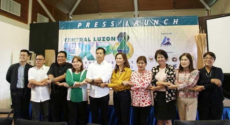 CLARK FREEPORT. Officials and representatives of the provincial governments of Aurora, Bataan, Bulacan, Nueva Ecija, Pampanga, Tarlac, and Zambales, Department of Trade and Industry, Department of Tourism, and Department of Labor and Employment during the Press Launch of the first Central Luzon Expo which will be held on October 17 to 18, 2019 at the ASEAN Convention Center, Clark Freeport Zone, Pampanga. (Photo by Carmela Jane F. Villar/PIA-3)
