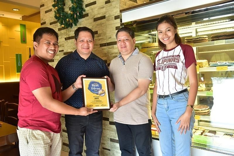 Lachi's was recently awarded with Best of Davao's Best durian cake