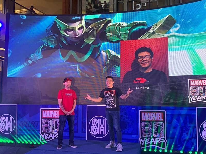 Marvel Games senior producer in Asia Danny Koo and Wave's co-creator Leinil Francis Yu. (MRL Photo)