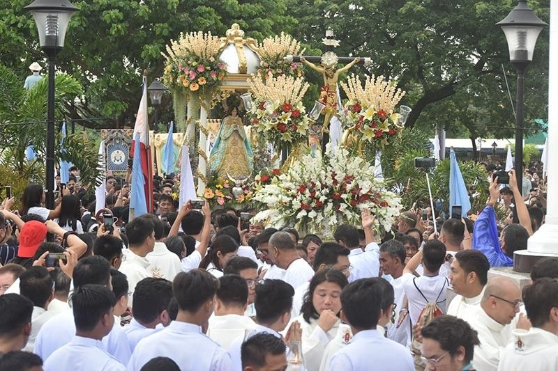 PAMPANGA. Thousands of devotees flock to the Provincial Capitol grounds to witness the celebration of the 63rd Canonical Coronation of Virgen Delos Remedios on Sunday, September 8, 2019. (Pampanga PIO)