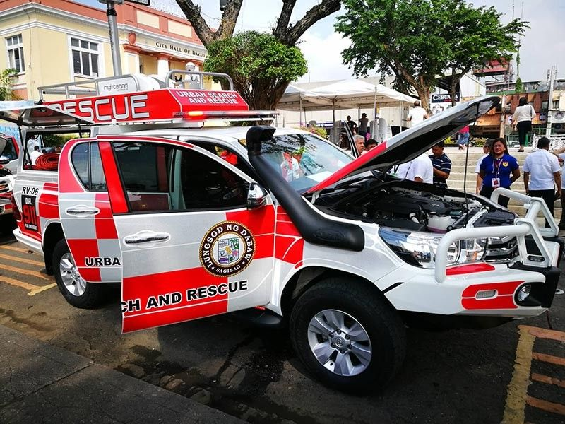 DAVAO. One of the newly-purchased light searching vehicles by the Davao City Central 911 on Monday, September 9, 2019, right after the flag-raising ceremony. (Mark Perandos)
