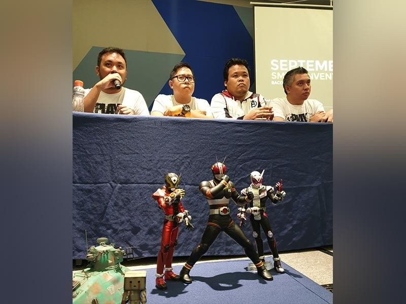 Brian Valentino, Rhene Piurque, Butz Cuenca and Vince Muyco, organizers of the event are reintroducing toy collections to all generations. It's one way to address addiction in gadgets.