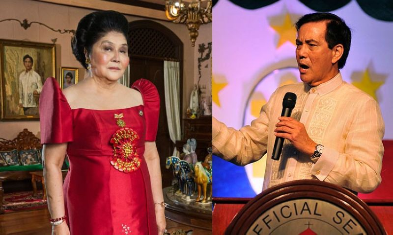 Former first lady Imelda Marcos (left) from the documentary
