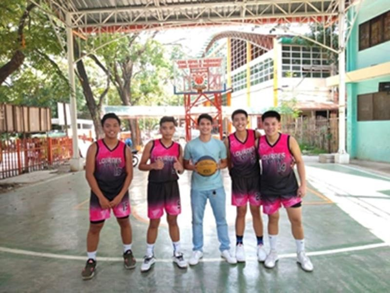 CAGAYAN DE ORO. 2019 South District Meet 3-on-3 basketball champion Lourdes College junior team of coach Rodre Dangcal Oponda. (Contributed Photo)