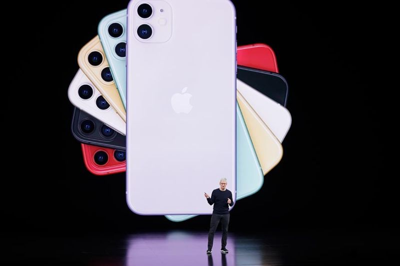 Apple CEO Tim Cook talks about the latest iPhone during an event to announce new products Tuesday, September 10, 2019, in Cupertino, Calif. (AP Photo)