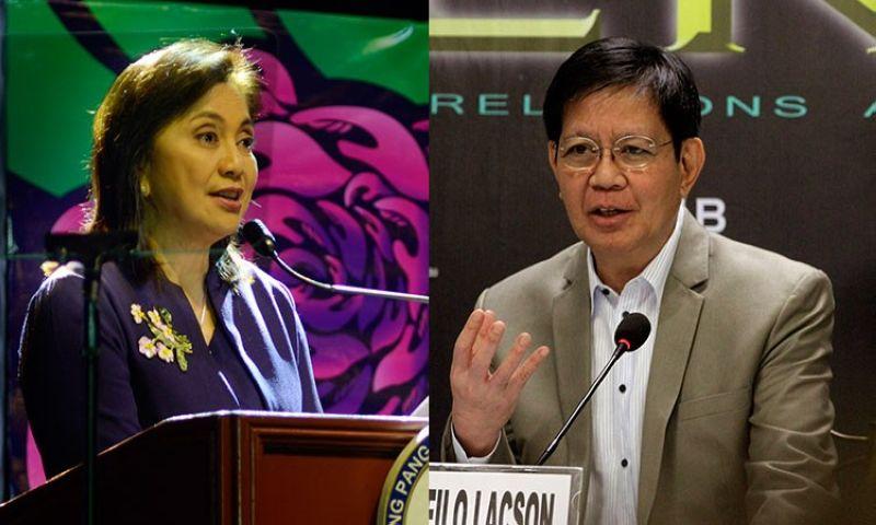MANILA. Vice President Leni Robredo (left) and Senator Panfilo Lacson. (SunStar File)