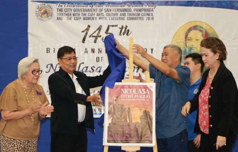PAMPANGA. City of San Fernando Mayor Edwin Santiago, Local Council of Women chairperson Dr. Leticia Yap, Corito Panlilio-Lim and husband Melo Lim led Monday's (September 9) launching of the second edition of the Nicolasa Dayrit-Panlilio book