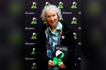 LONDON. Canadian author Margaret Atwood poses for a photograph during a press conference at the British Library to launch her new book 'The Testaments' in London, Tuesday, September 10, 2019. (AP)