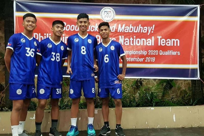 MAKING THE CUT. Cebuanos (from left) Simon Andrei del Campo, Gianrenzo Andres Custado, Jaser Amirul and Eugene Tillor will represent the country in the qualifiers for the 2020 AFC U16 Champion-ships. (Contributed photo)