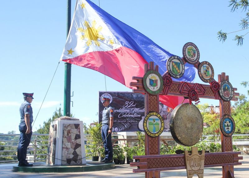 "ONE CORDILLERA. In this file photo taken on July 12 the unity gong which symbolizes the Cordillera provinces' unity stands outside the Baguio City hall. Today, September 13 is the commemoration of the 1986 ""Sipat"" peace talks between the government and the Cordillera Peoples Liberation Army(CPLA) which paved way for the creation of the Cordillera Administrative Region. - Photo by Jean Nicole Cortes"