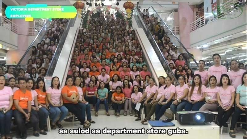 DAVAO. Screenshot taken from the video of Archie Osnan showing the employees of the Victoria Department Store. (File photo)
