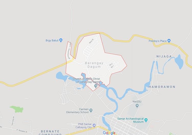Mapa sa Barangay Dagum, Calbayog City. (Google Maps)
