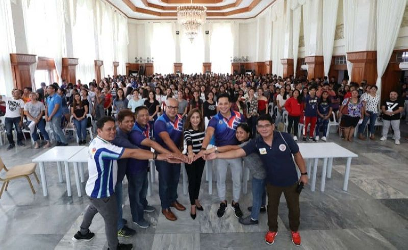 CEBU. Cebu Governor Gwen Garcia leads the relaunch of the Governor Gwen Garcia Unity Volleyball (GUV) Cup at the Capitol Social Hall. (Contributed photo)