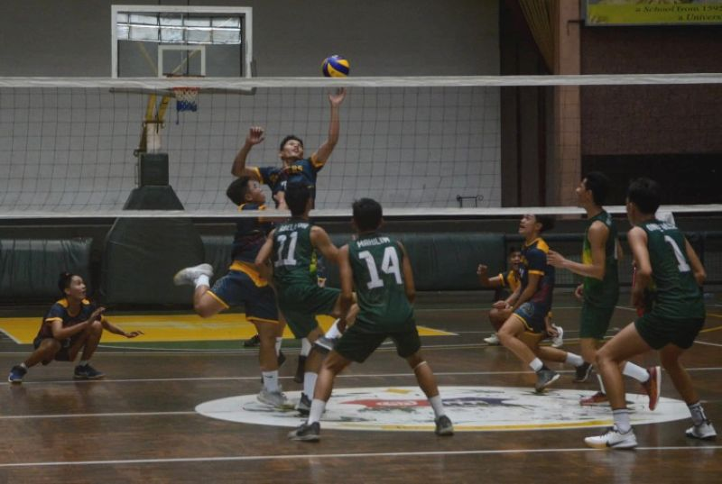 CEBU. The USP-F Baby Panthers picked up where they left off as they opened the Cesafi volleyball season on a winning note. (Photo by Arni Aclao)