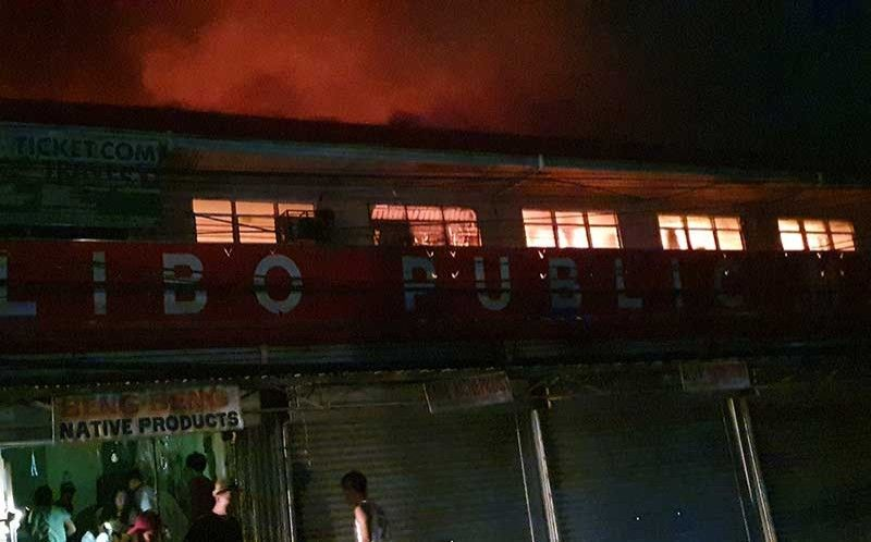 AKLAN. Damage to the Kalibo Public Market was estimated at P35 million following the fire that hit the building over the weekend. (Photo by Jun N. Aguirre)
