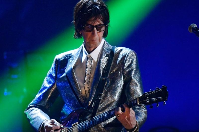 CLEVELAND. In this April 14, 2018, file photo, Ric Ocasek, from the Cars, performs during the Rock and Roll Hall of Fame Induction ceremony in Cleveland. Ocasek, famed frontman for The Cars rock band, has been found dead in a New York City apartment. The New York City police department said officers responding to a 911 call found the 75-year-old Ocasek on Sunday, September 15, 2019. (AP)