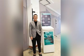 SAVING THE PLANET. Dan Mejia, head of communications and press of H&M Philippines, says the company has been creating innovative fashion pieces from used clothes. (SunStar Photo/Veronika Hipolito)