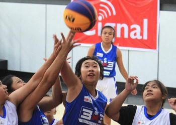 ALL OUT. Some 192 basketball players compete in the Samahang Basketball ng Pilipinas (SBP) 3x3 under 18 CAR Regional finals at the University of Baguio gym over the weekend. (Jean Nicole Cortes)